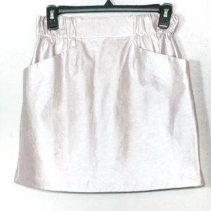 Zara foiled pink pull on mini skirt glam party